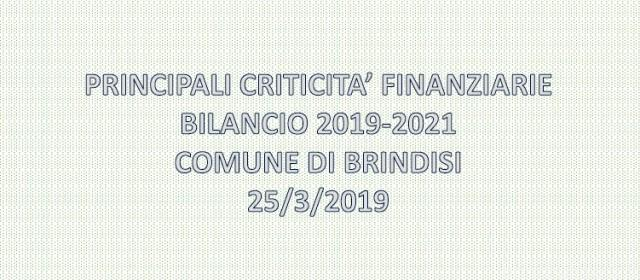 Conferenza stampa sul Bilancio del Sindaco di Brindisi Riccardo Rossi e l' Assessore al Patrimonio e Bilancio Cristiano D' Errico.
