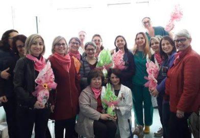 A.N.D.O.S. Comitato onlus di Brindisi  Augurano buona Pasqua alle donne del reparto di chirurgia senologica dell'O. Perrino di Brindisi