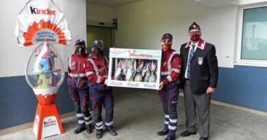 Al reparto Pediatria dell'ospedale Perrino di Brindisi il grande gesto di solidarietà dei volontari  Anps